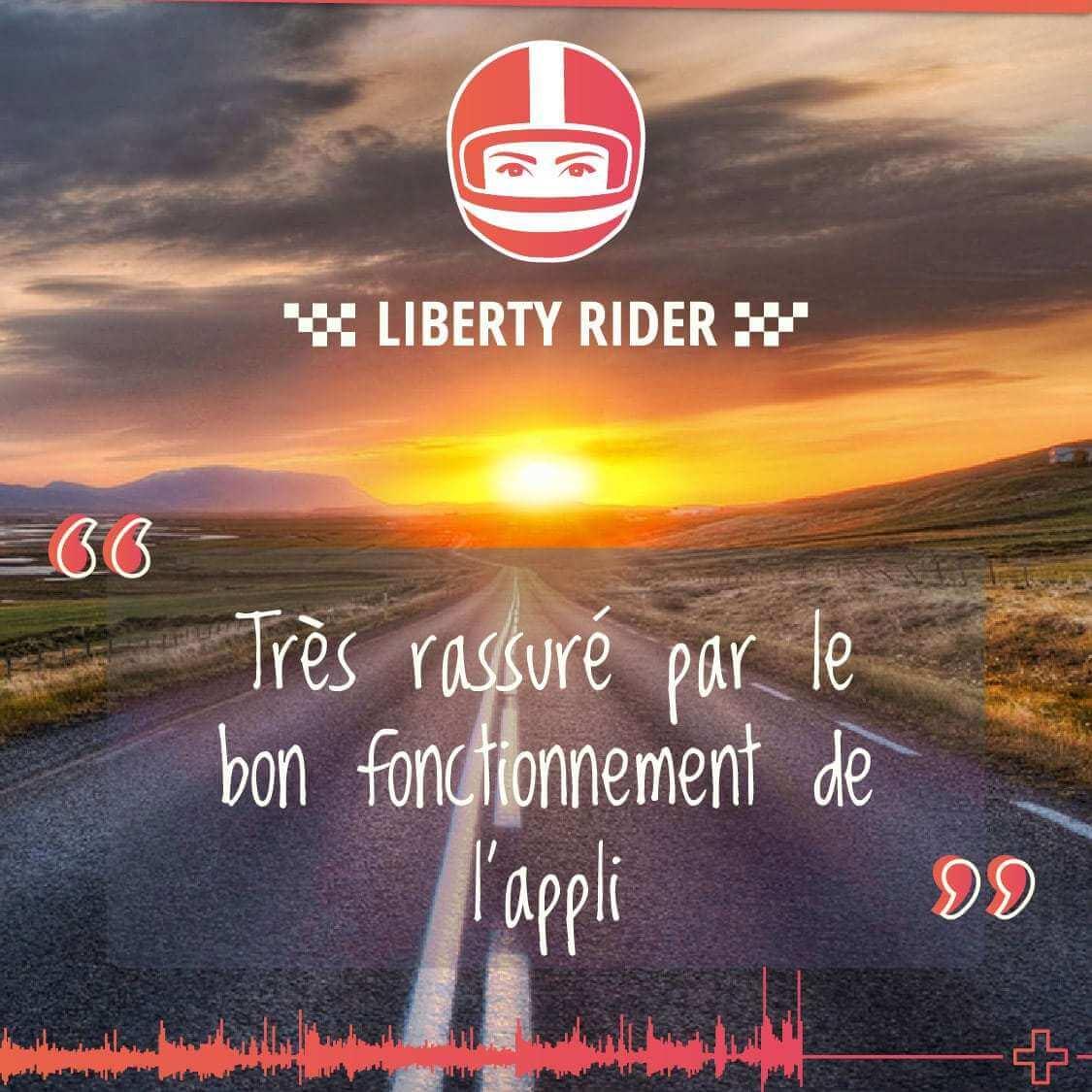 Témoignage d'un utilisateur de l'application Liberty Rider après son accident