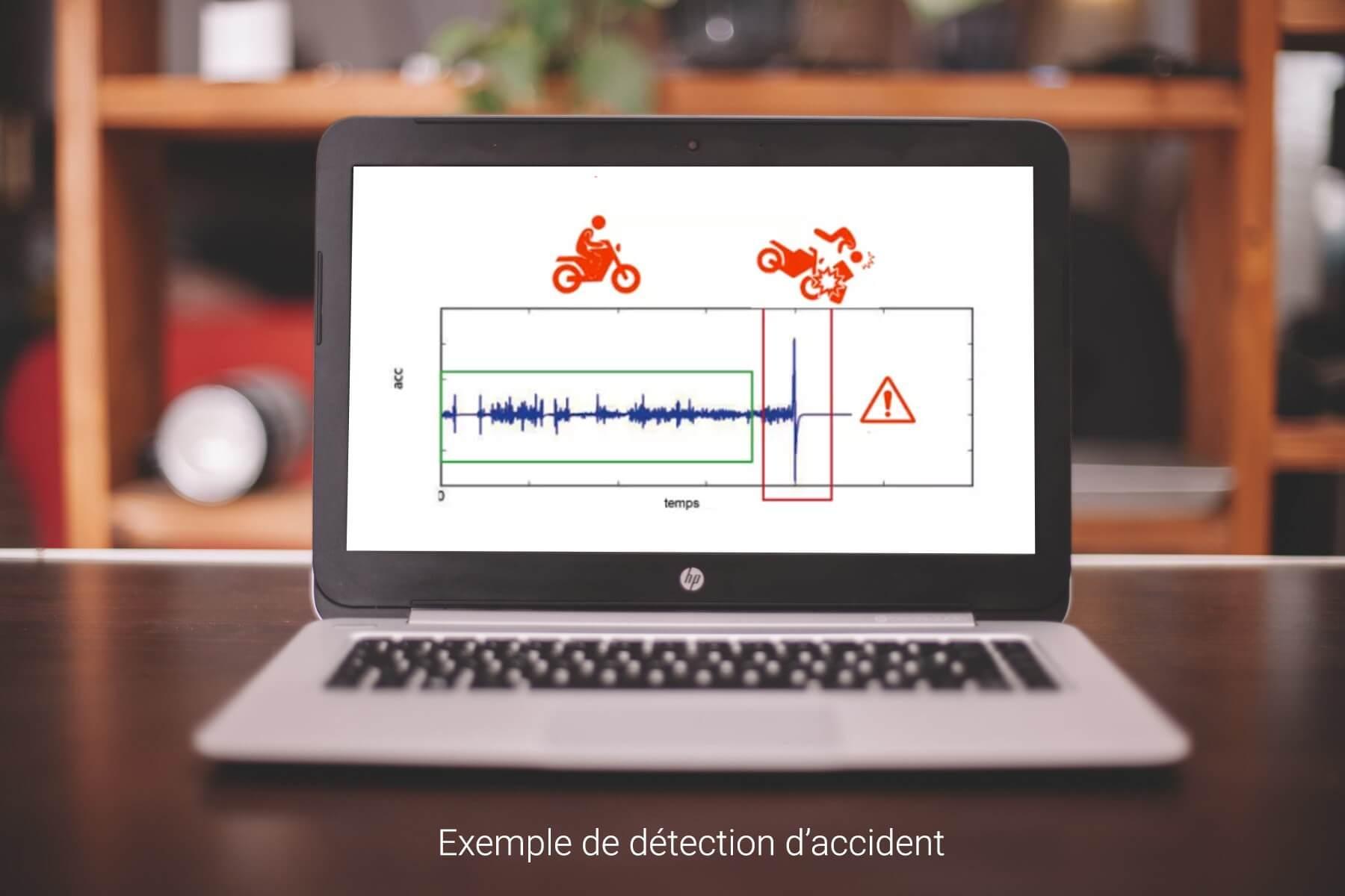 Accéléromètre du téléphone détecte accident moto