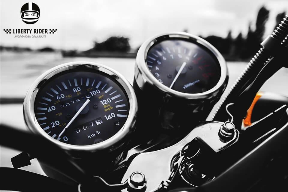La vitesse permet de détecter votre accident moto