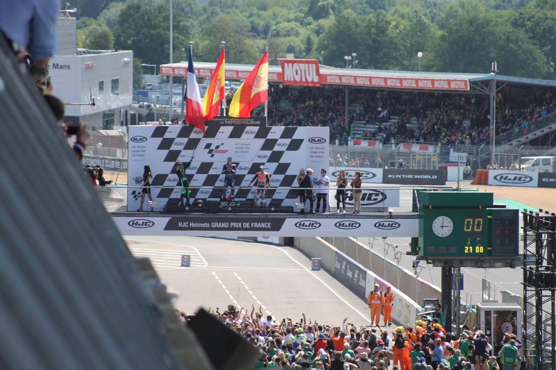 Podium de Fin du Moto GP