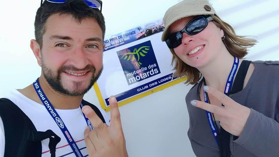 Chloé et Bertrand gagnants des pass Moto GP