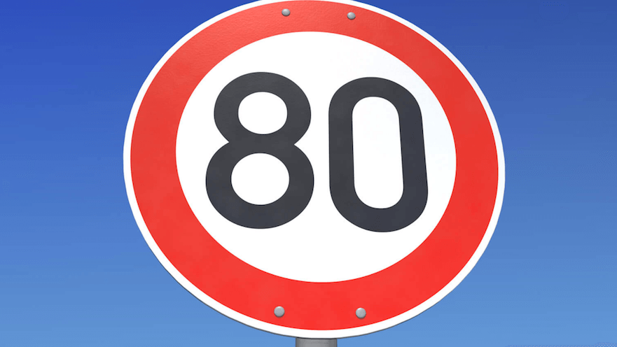 Panneau limitation vitesse 80