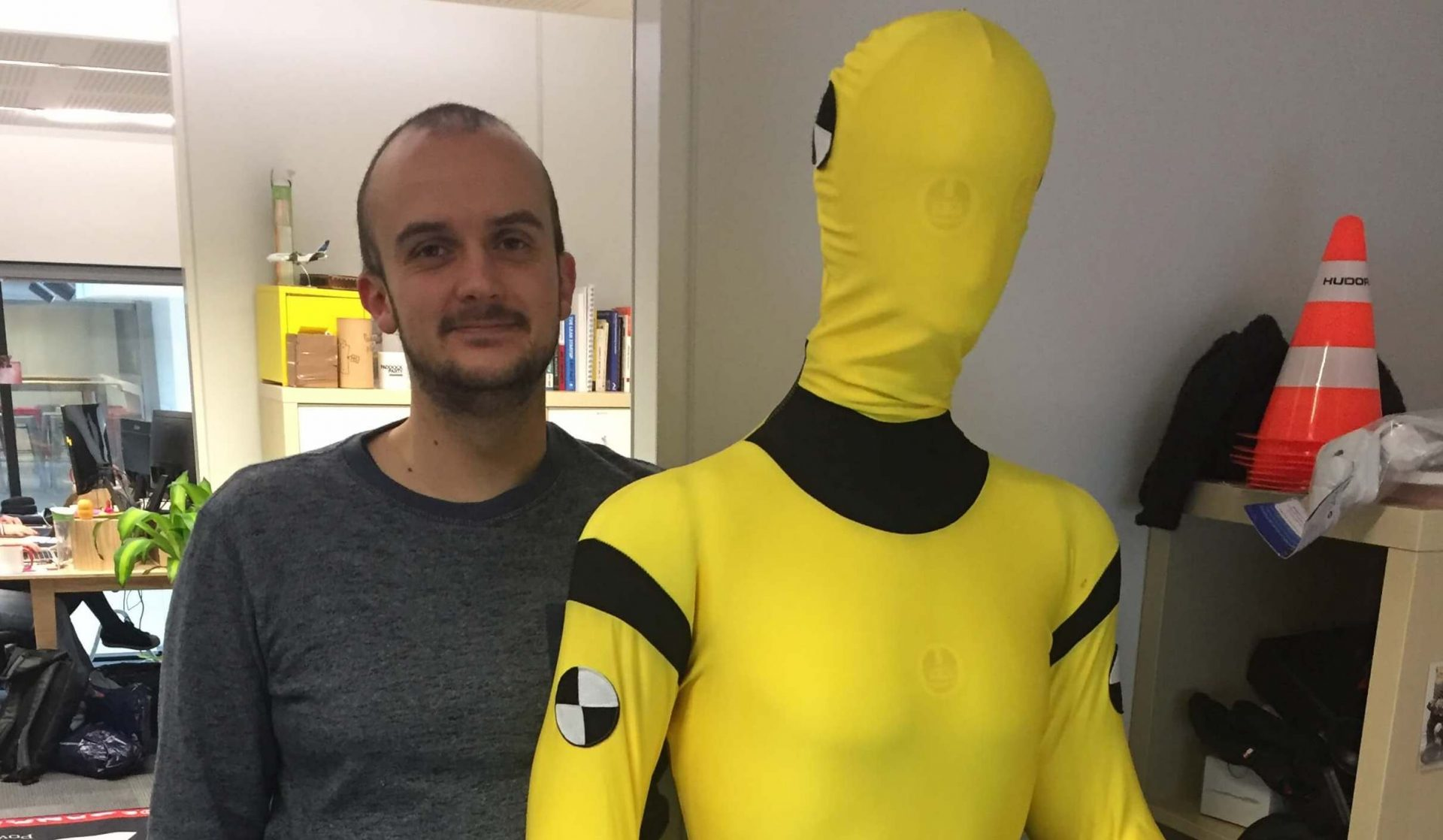 Mannequin de test pour le développement de l'algorithme de détection de chute