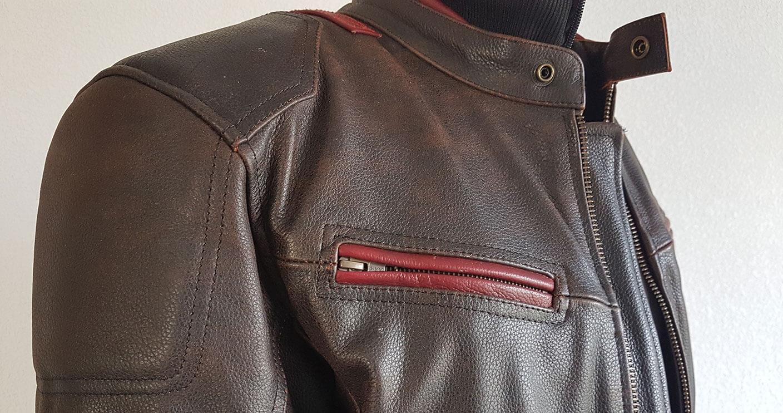 Zip poitrine poche du blouson Zolki