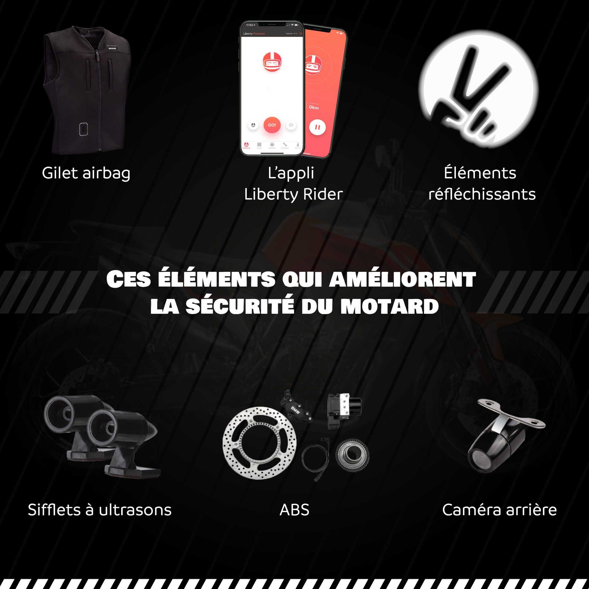 Infographie astuces sécurité 2-roues