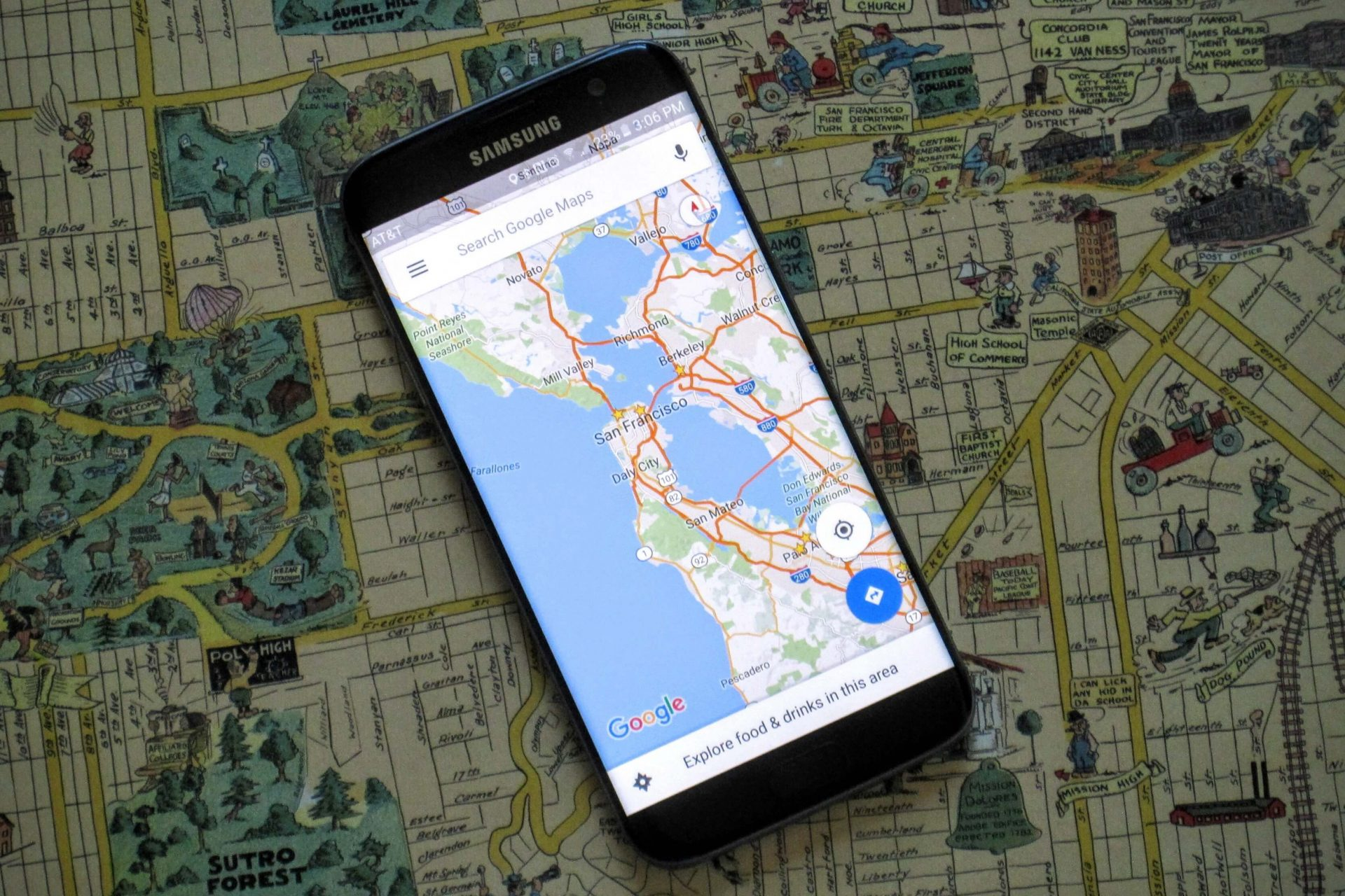 Comparatif application GPS moto : Google Maps