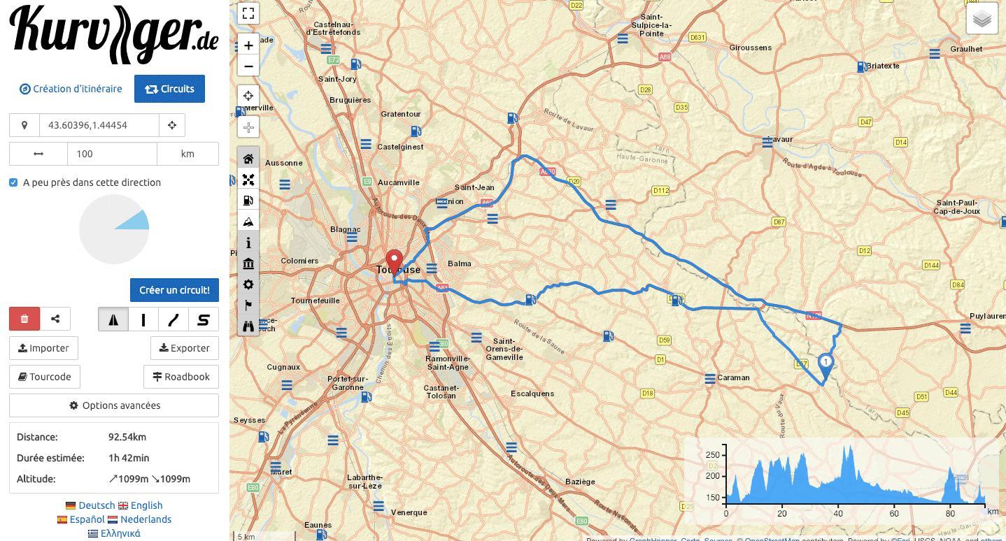 GPS moto Kurviger